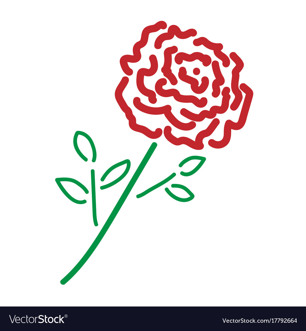 Single rose color sign 209
