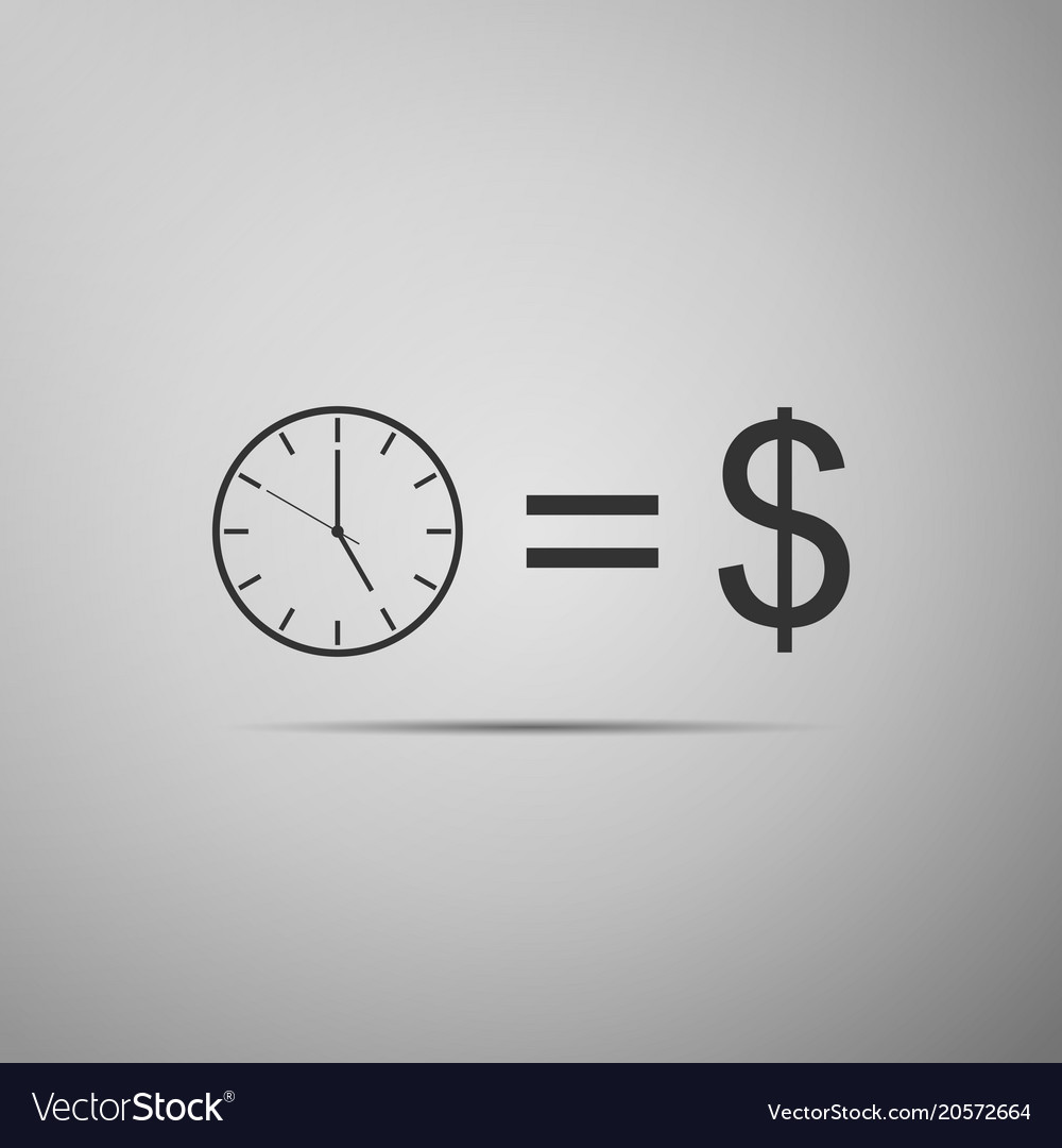 Time is money sign icon money is time