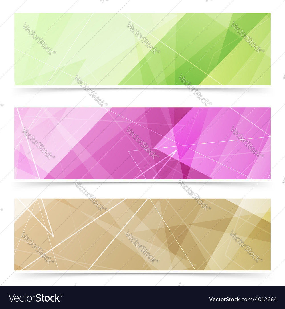 Triangular pattern web footer collection vector image