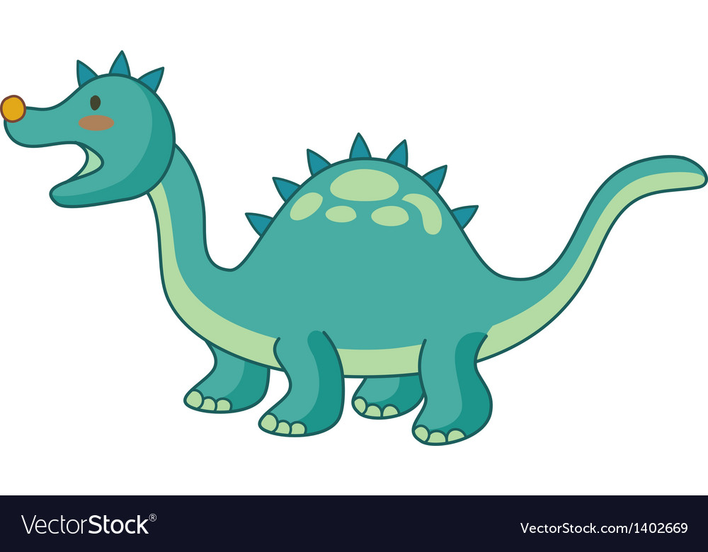 A dinosaur vector image