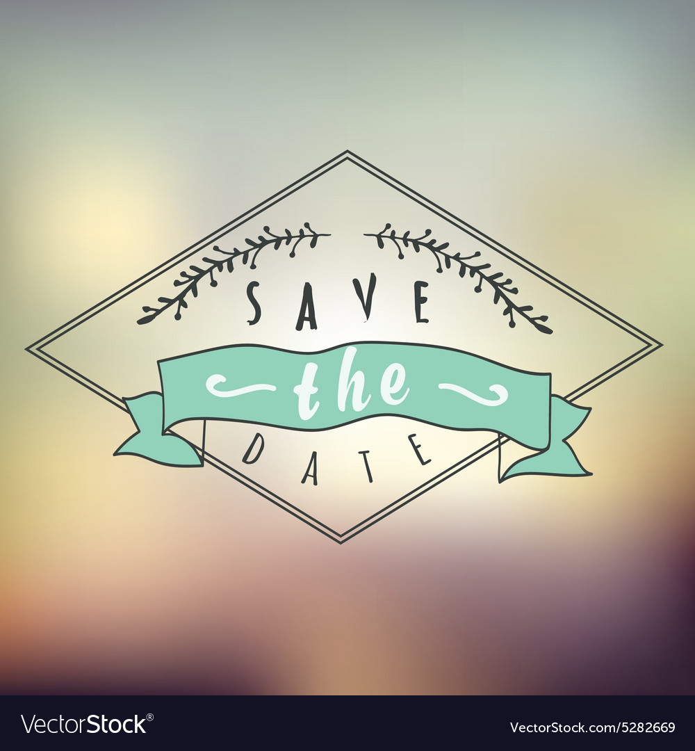 Abstract Background with typographical quote Save vector image