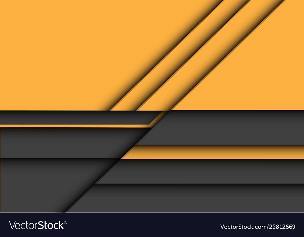 Abstract yellow grey 3d overlap design modern
