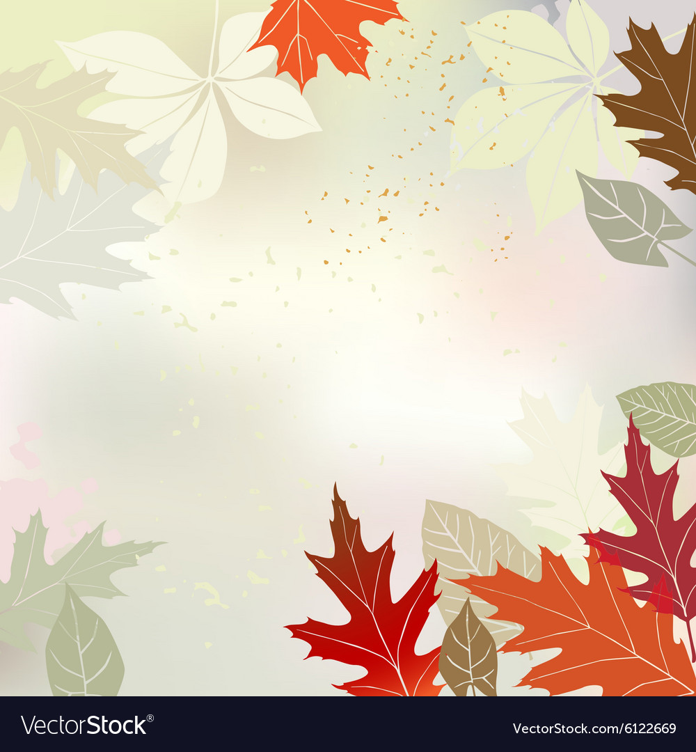 Autumn background multicolored leaves