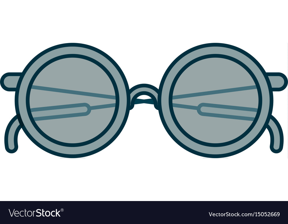 Blue shading silhouette of glasses icon