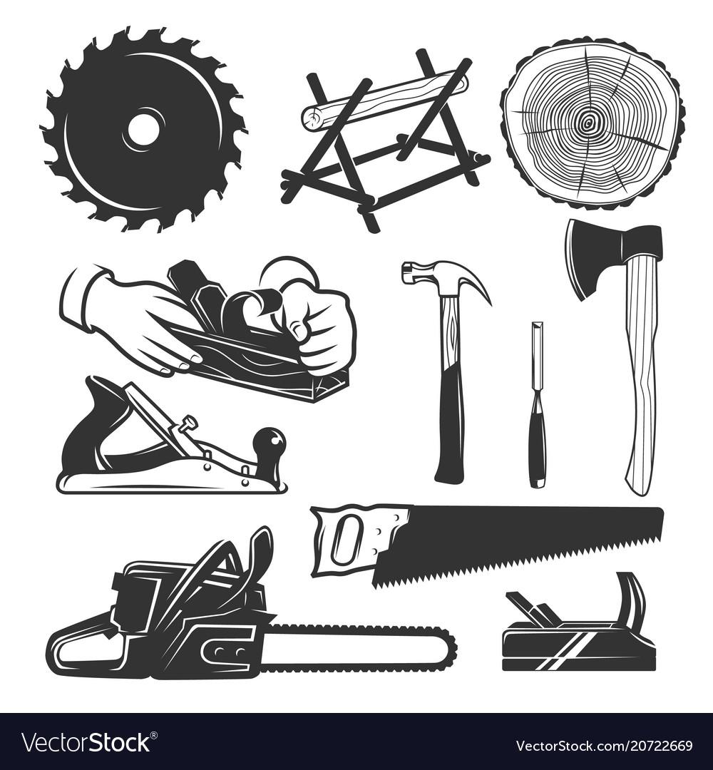 Carpentry Tools Logo Templates Vector Image