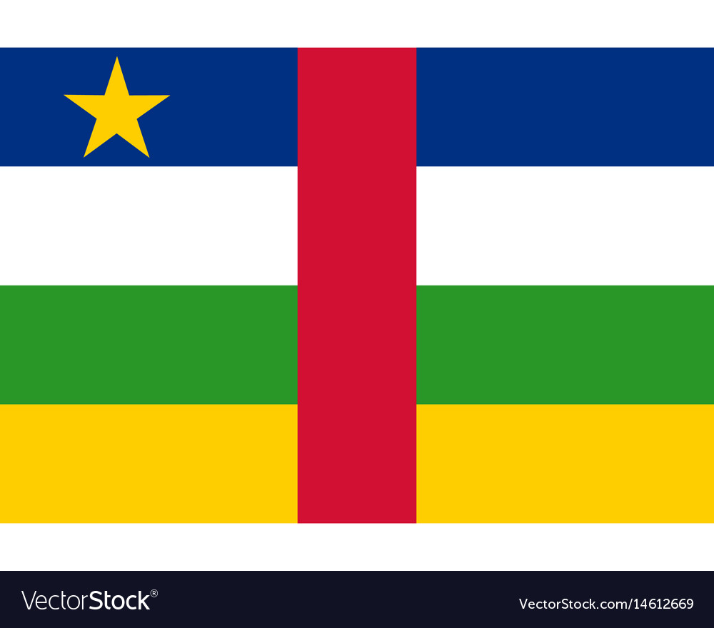 Colored flag of the central african republic