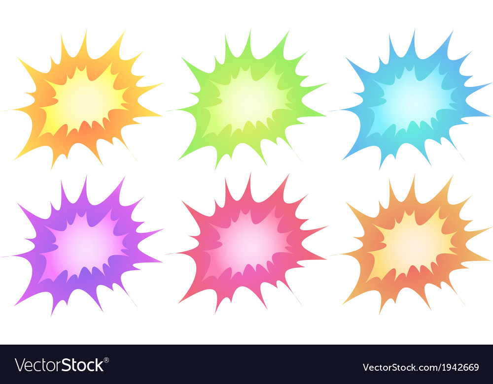 Explosions vector image