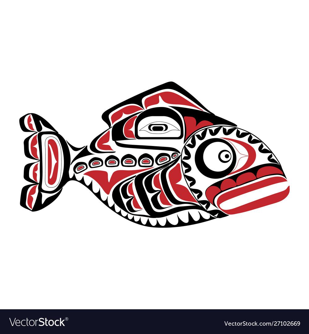 Haida perch tattoo ornament in haida style isola
