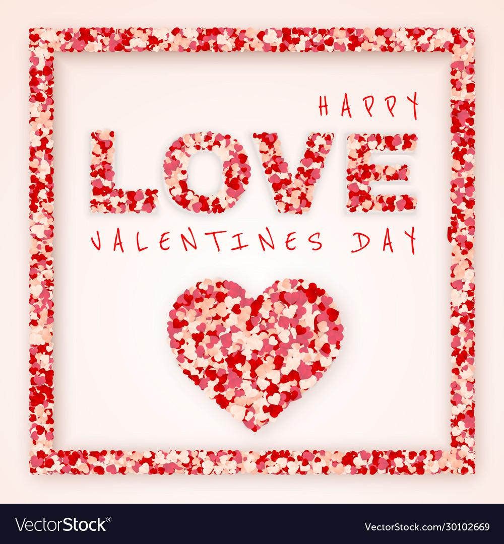 Happy valentines day background paper red pink