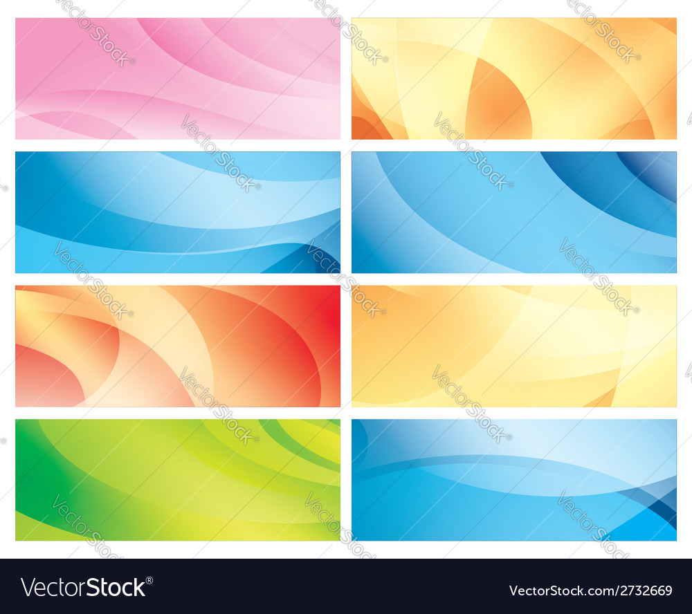 Horizontal abstract colorful backgrounds