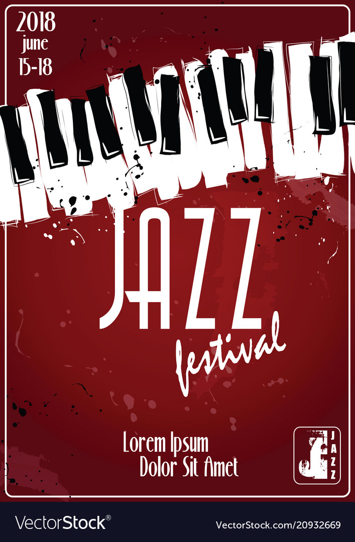 Jazz music festival poster background template