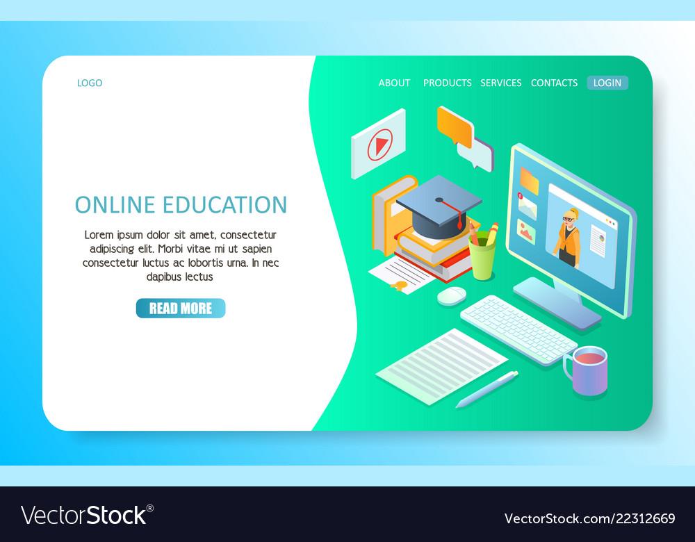 Online education landing page website