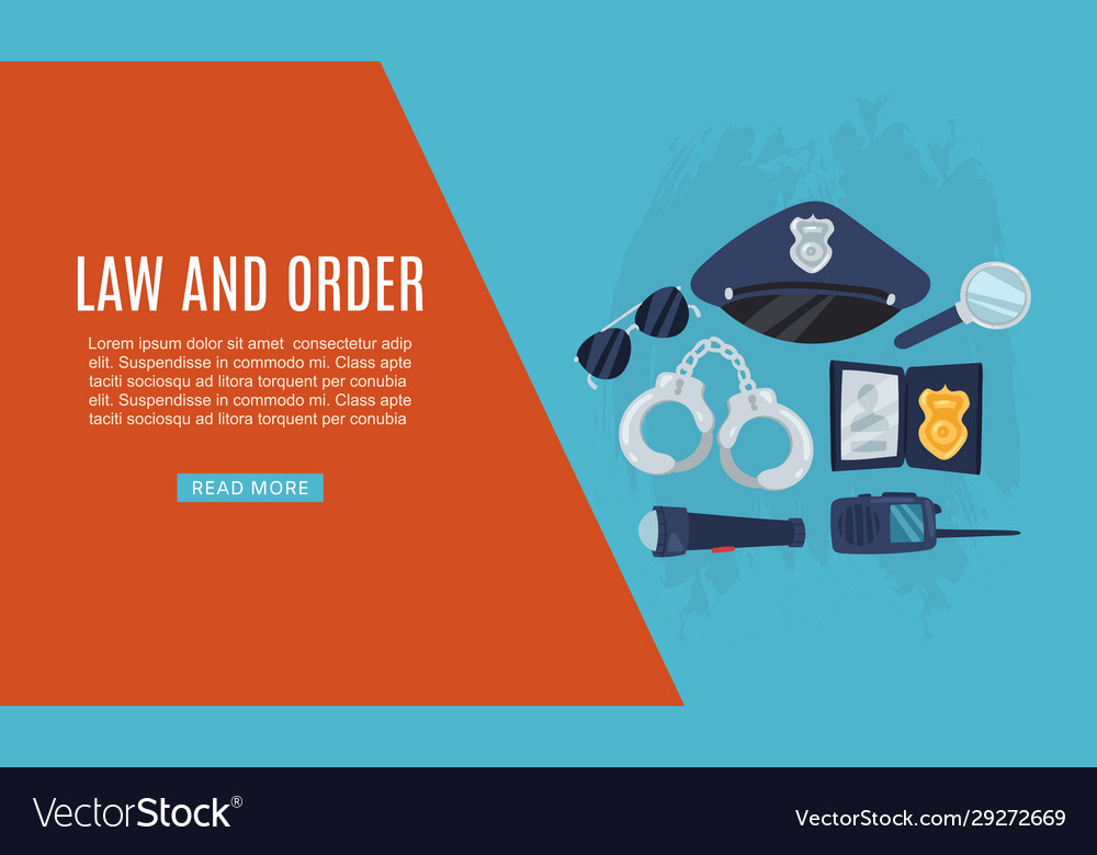 Police items law and order web banner