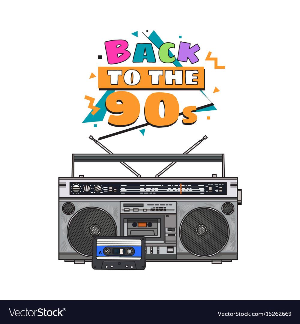 Retro style audio tape recorder ghetto boom box