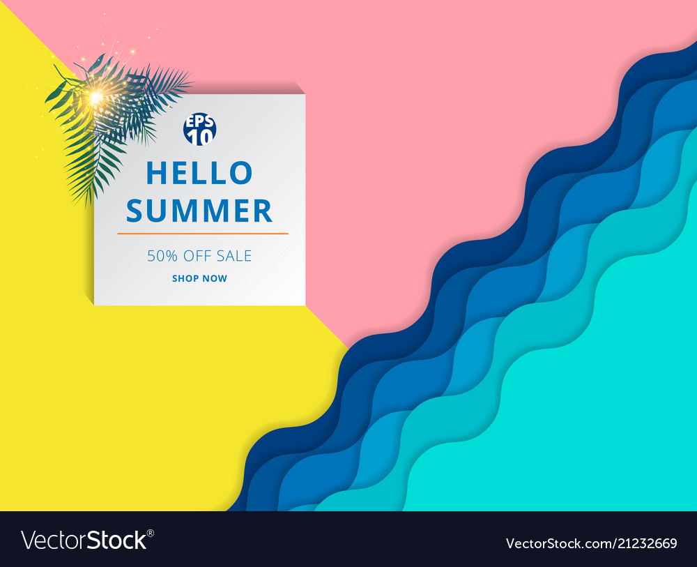 Summer sale background template layout for banner
