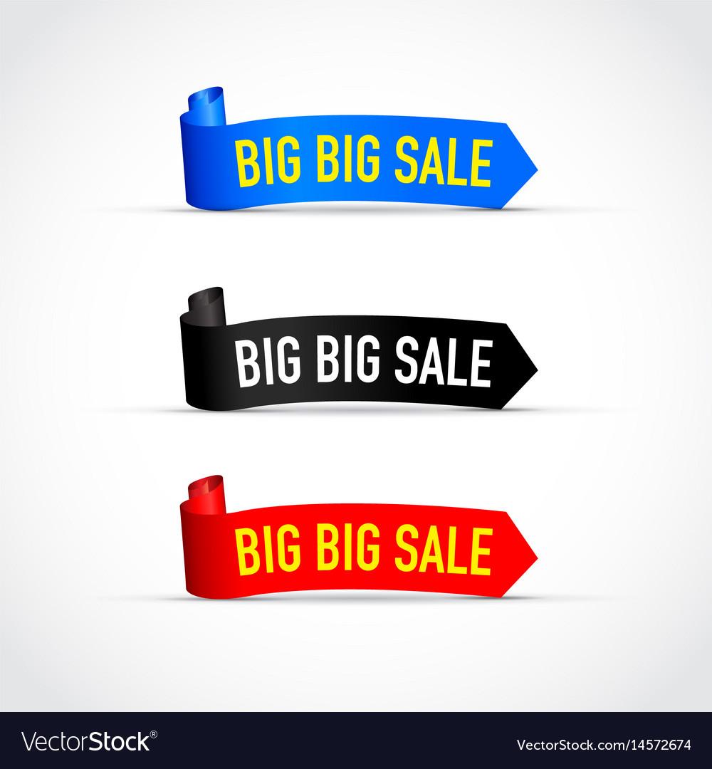 Big sale sign set vector image
