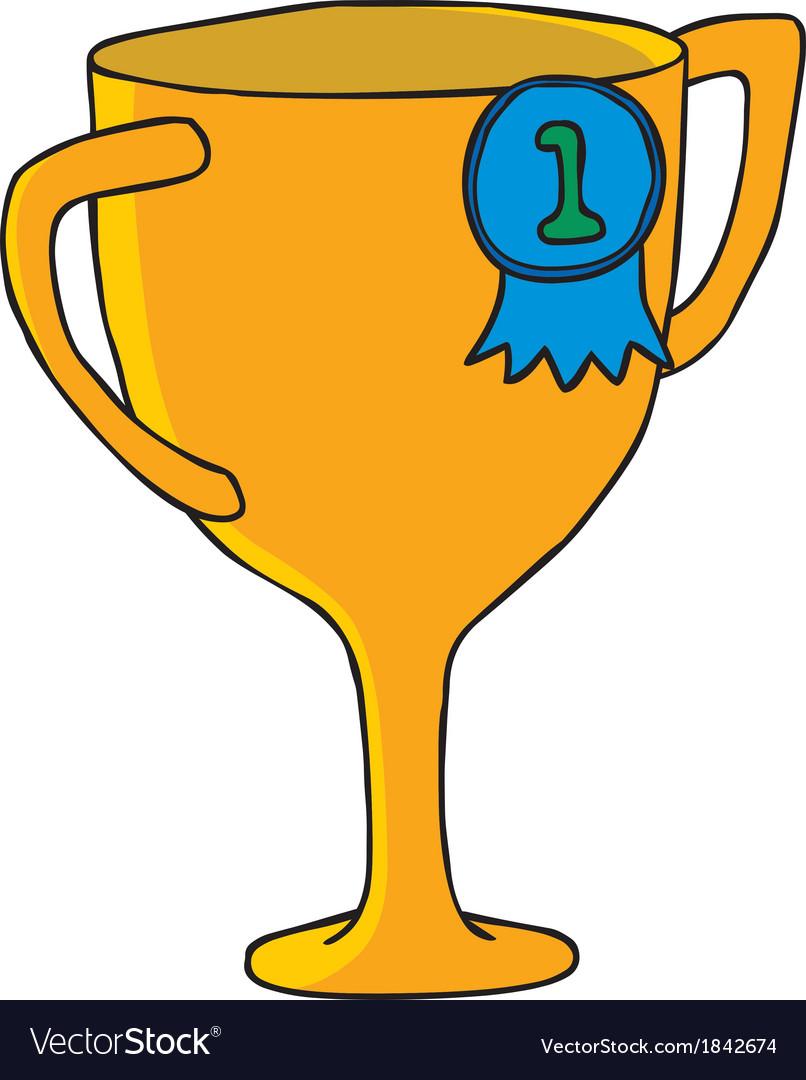 Cartoon trophy vector image