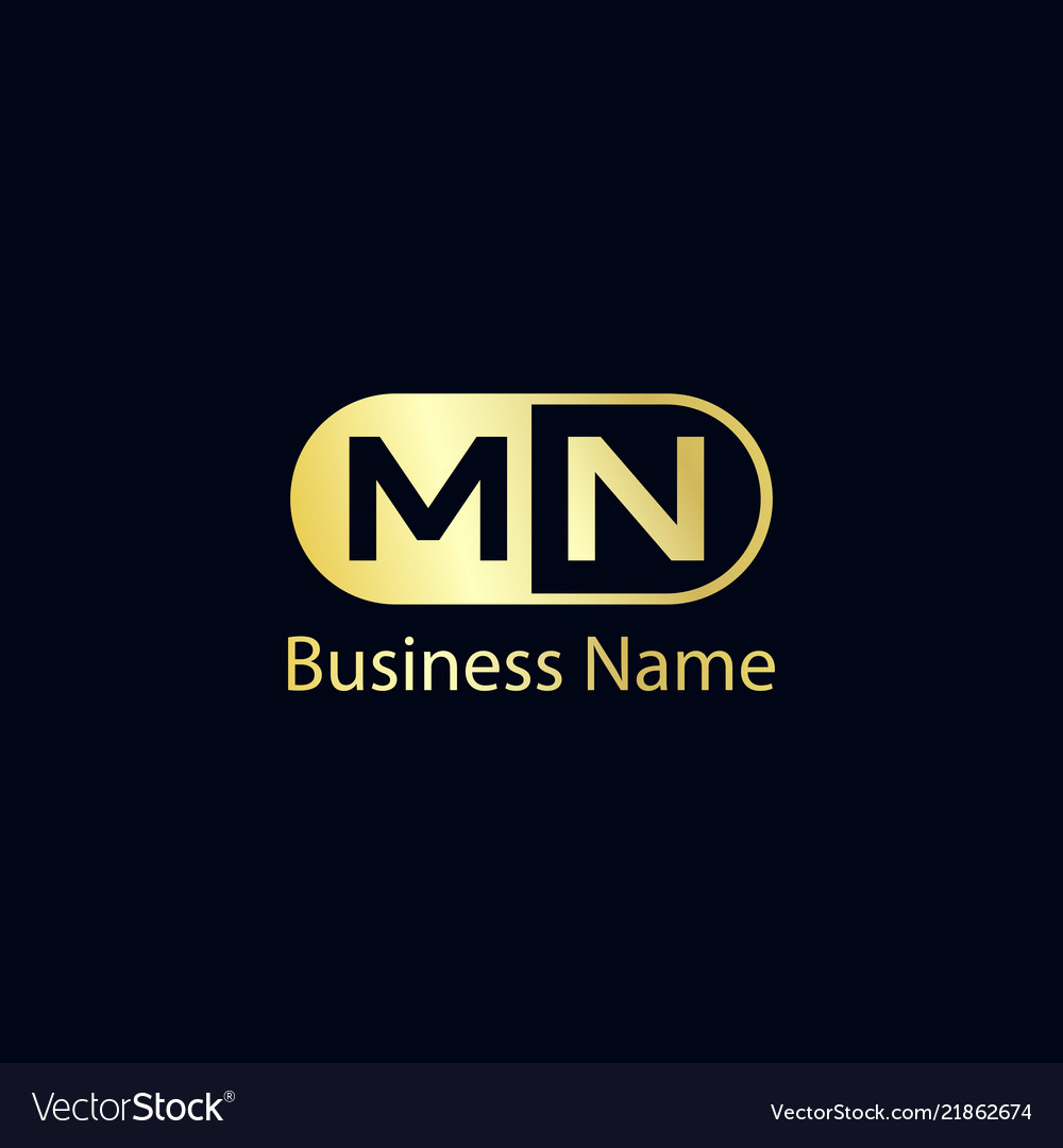 Initial Letter Mn Logo Template Design Royalty Free Vector
