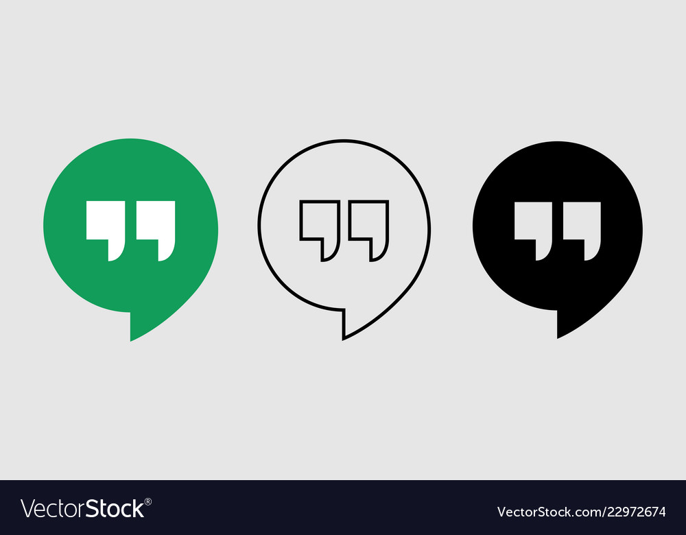 Social media icon set for google hangout in
