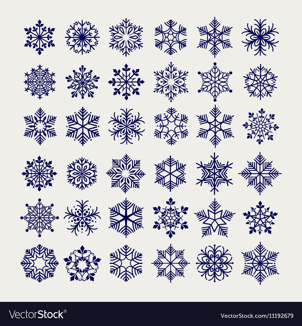 Ball pen imitation snowflakes set