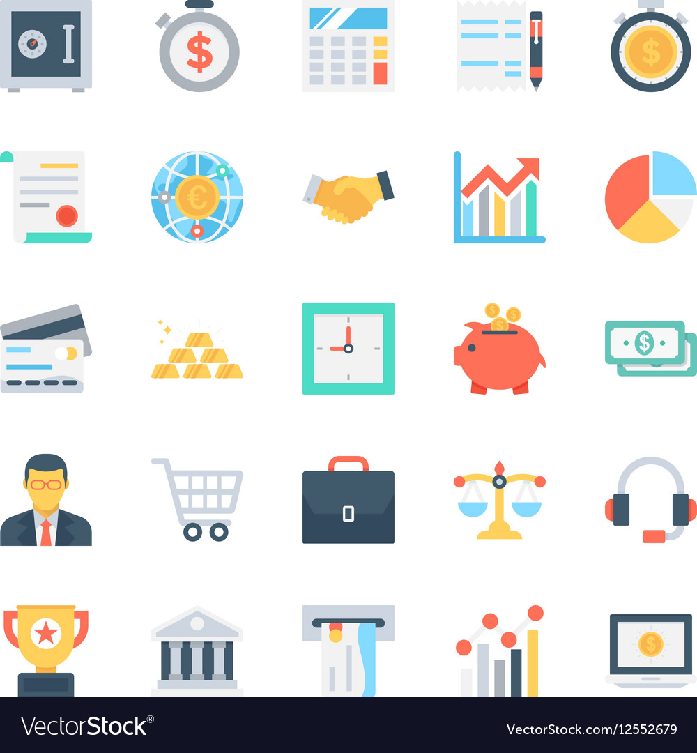 Banking and Finance Icons 1 vector image