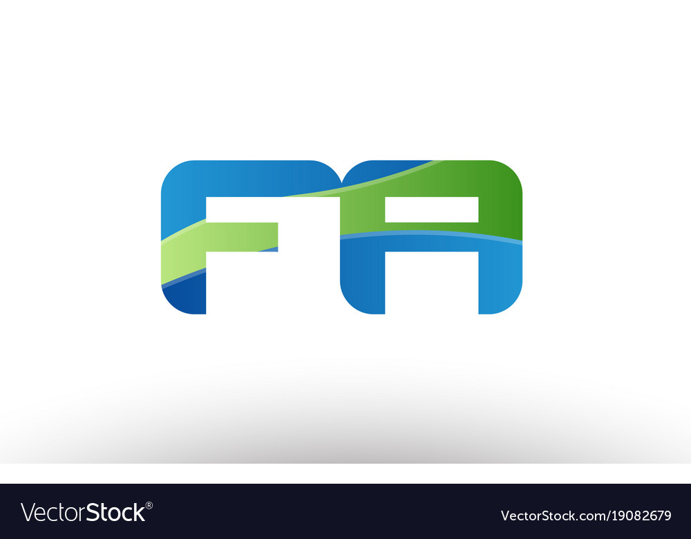 Blue green fa f a alphabet letter logo royalty free vector blue green fa f a alphabet letter logo vector image thecheapjerseys Image collections