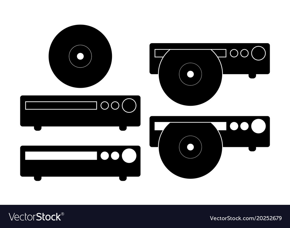 Cd dvd player icon flat sign isolated on white