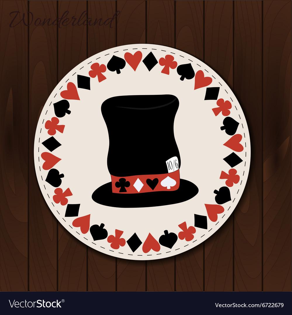 Hatter hat - drink coaster from Wonderland