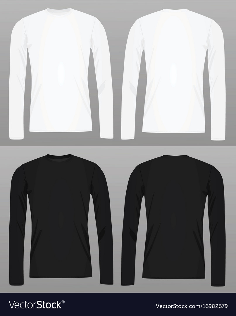 Long Sleeve T Shirt Template Royalty Free Vector Image