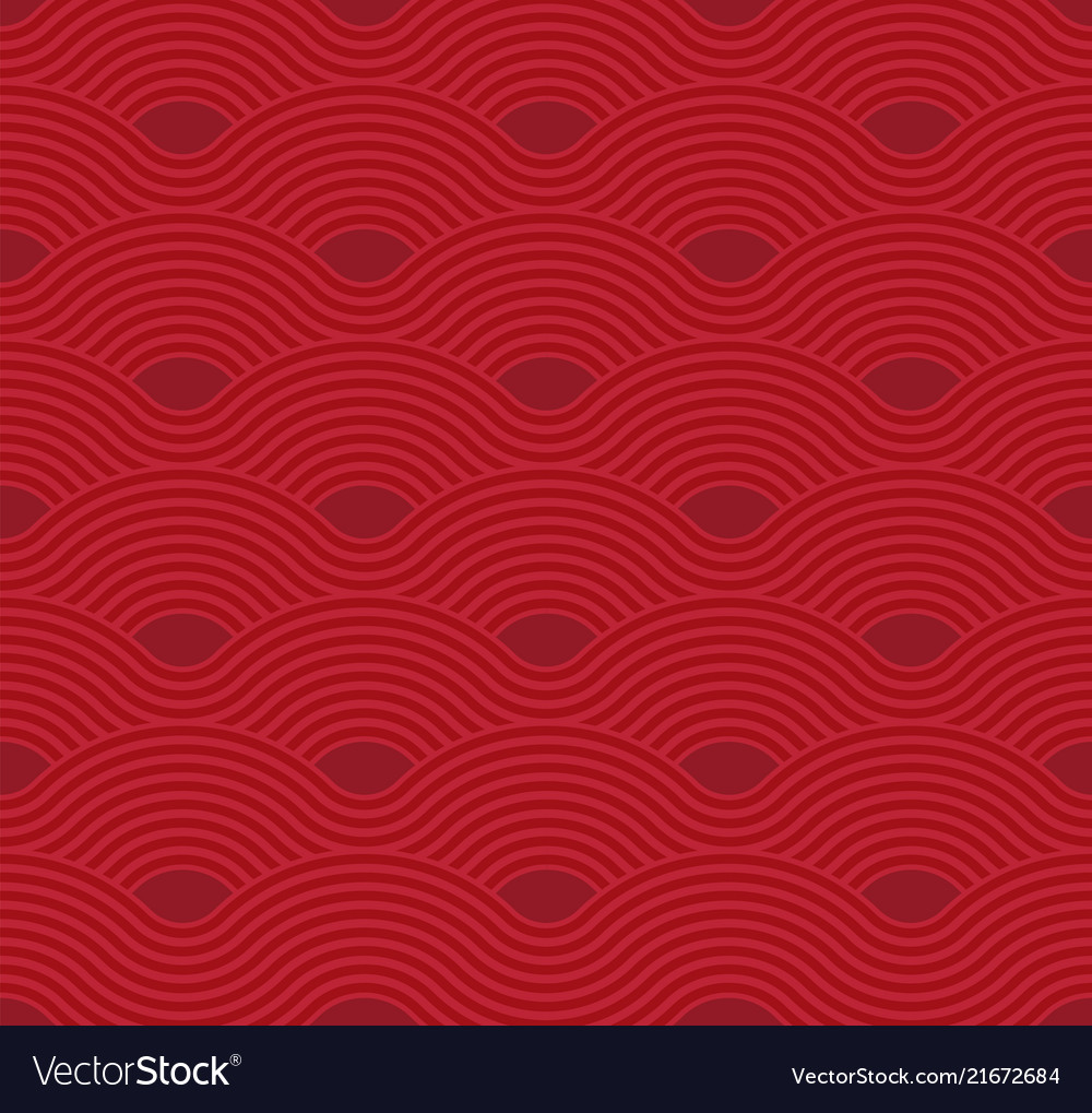 Abstract wave pattern red ripple background flat
