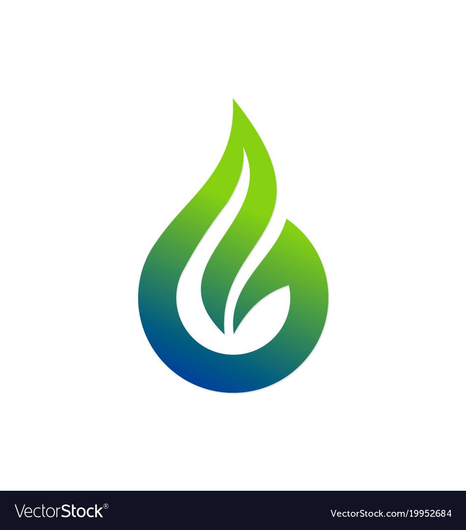 bio ecology nature droplet logo royalty free vector image