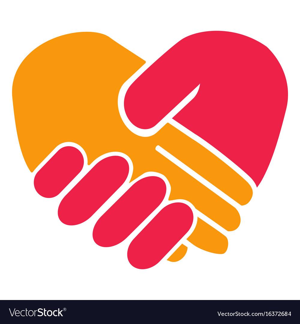 Handshake heart