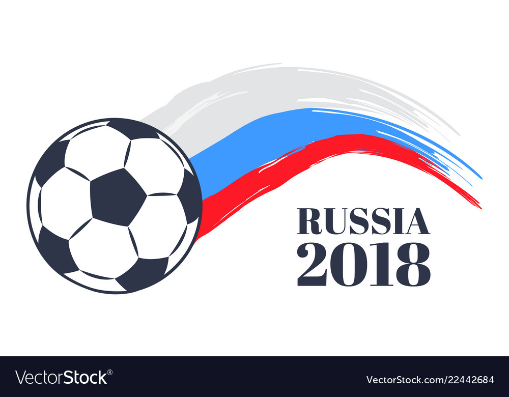 Russia 2018 soccer cup color