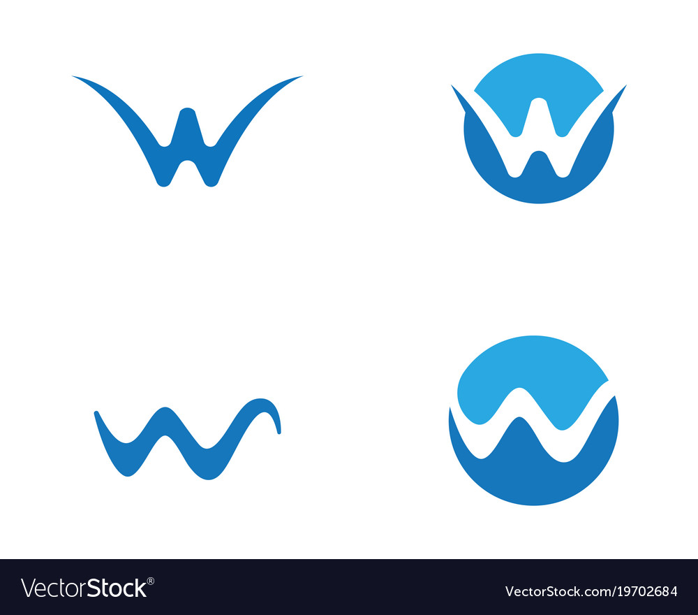 w letter water wave logo template royalty free vector image rh vectorstock com wave logo images wave logo brand