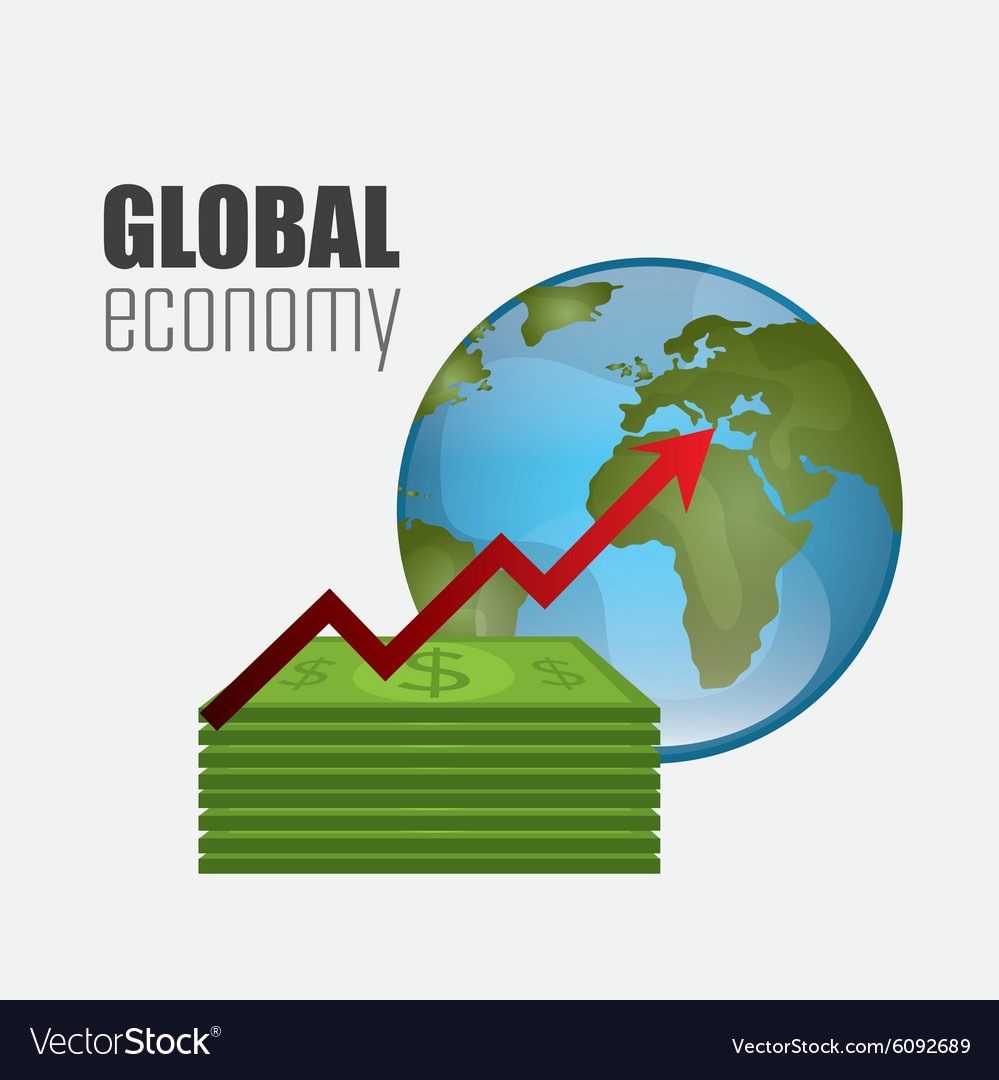 Global economy money and business design