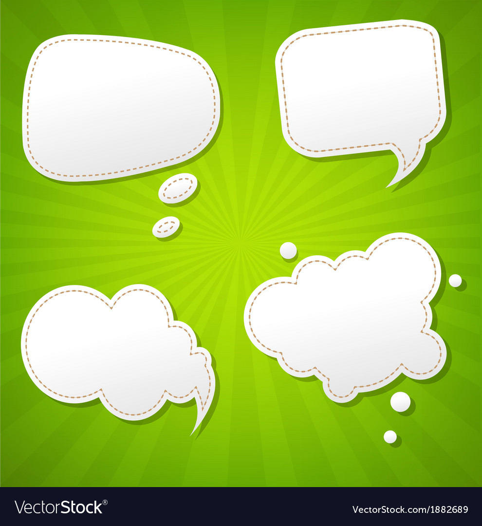 Green Sunburst Poster With Speech Bubble