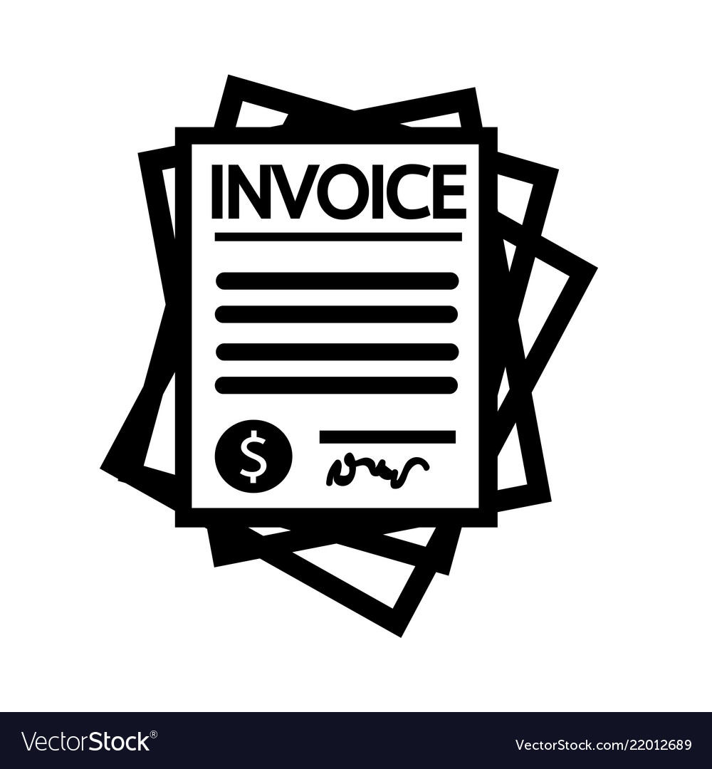 invoice bill icon royalty free vector image vectorstock. Black Bedroom Furniture Sets. Home Design Ideas