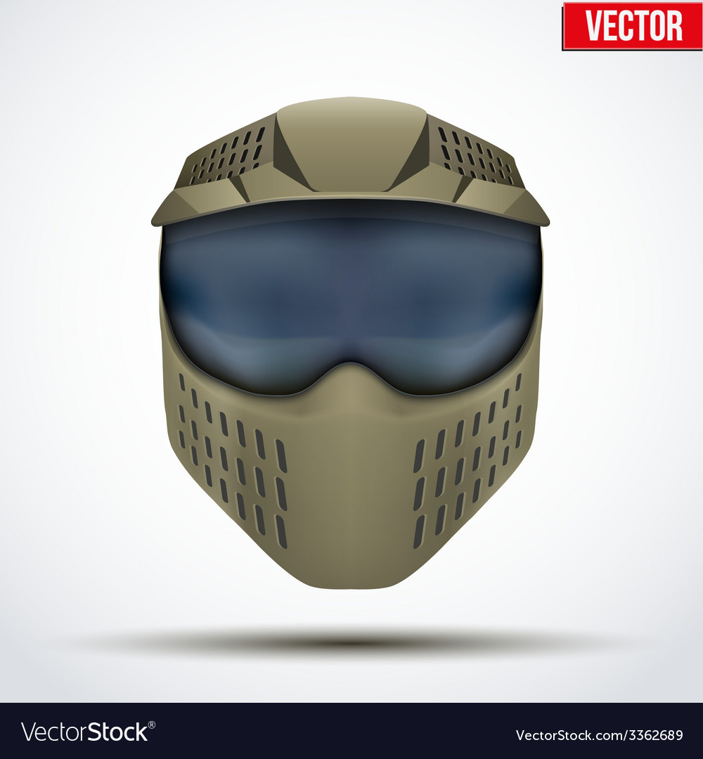Khaki paintball mask with goggles Original design