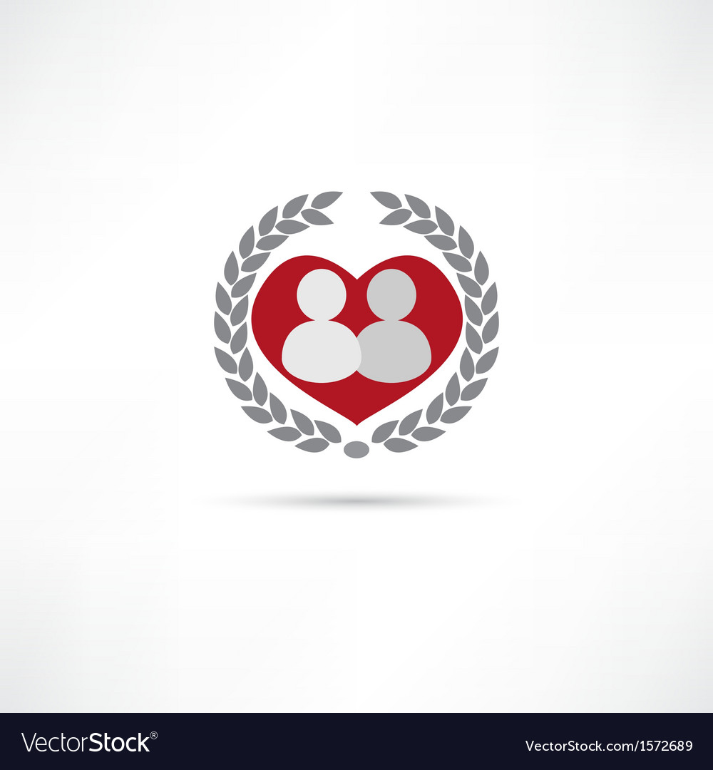 Loved one icon vector image