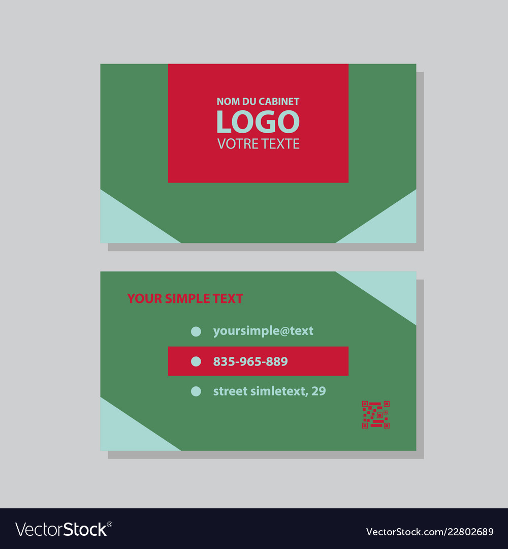 Modern simple light business card template with vector image flashek Gallery