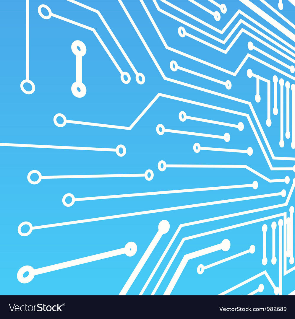 Perspective background of blue computer board vector image