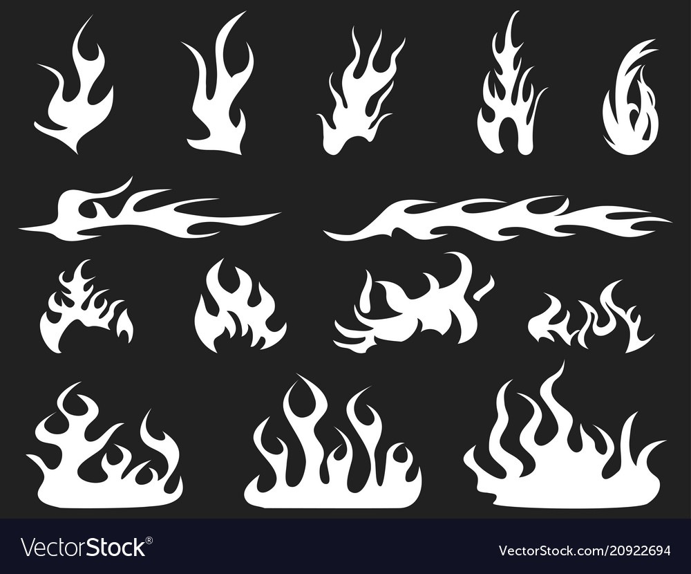 Abstract white fire patterns