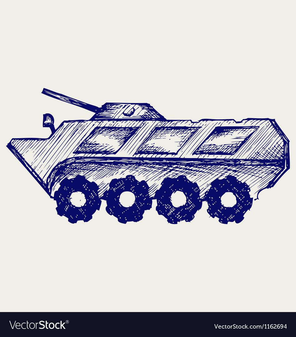 Armored troop-carrier