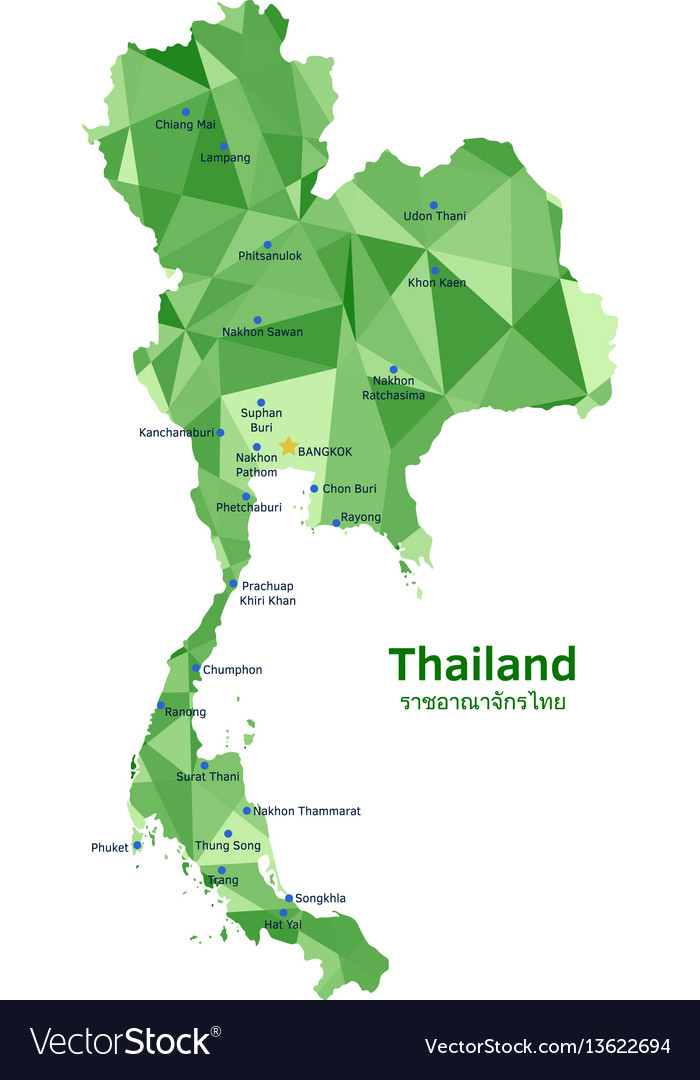 Map of thailand