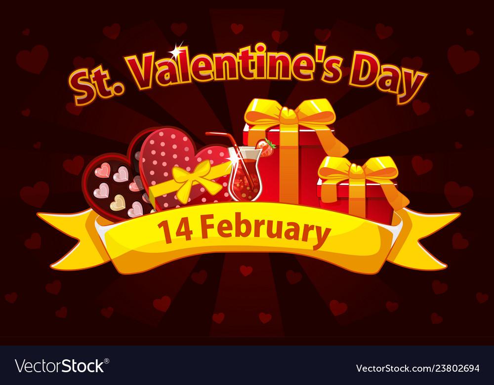 Romantic banner for saint valentine day greeting