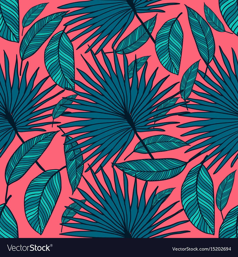 Seamless tropical pattern tropical color