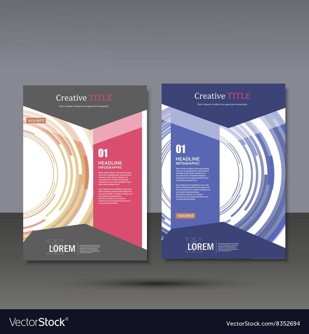 Set template for brochure poster application and