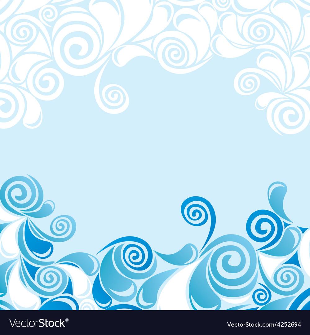Water drop pattern vector image