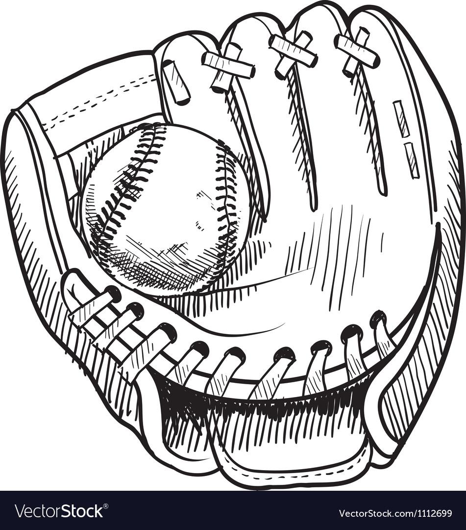 Doodle baseball glove