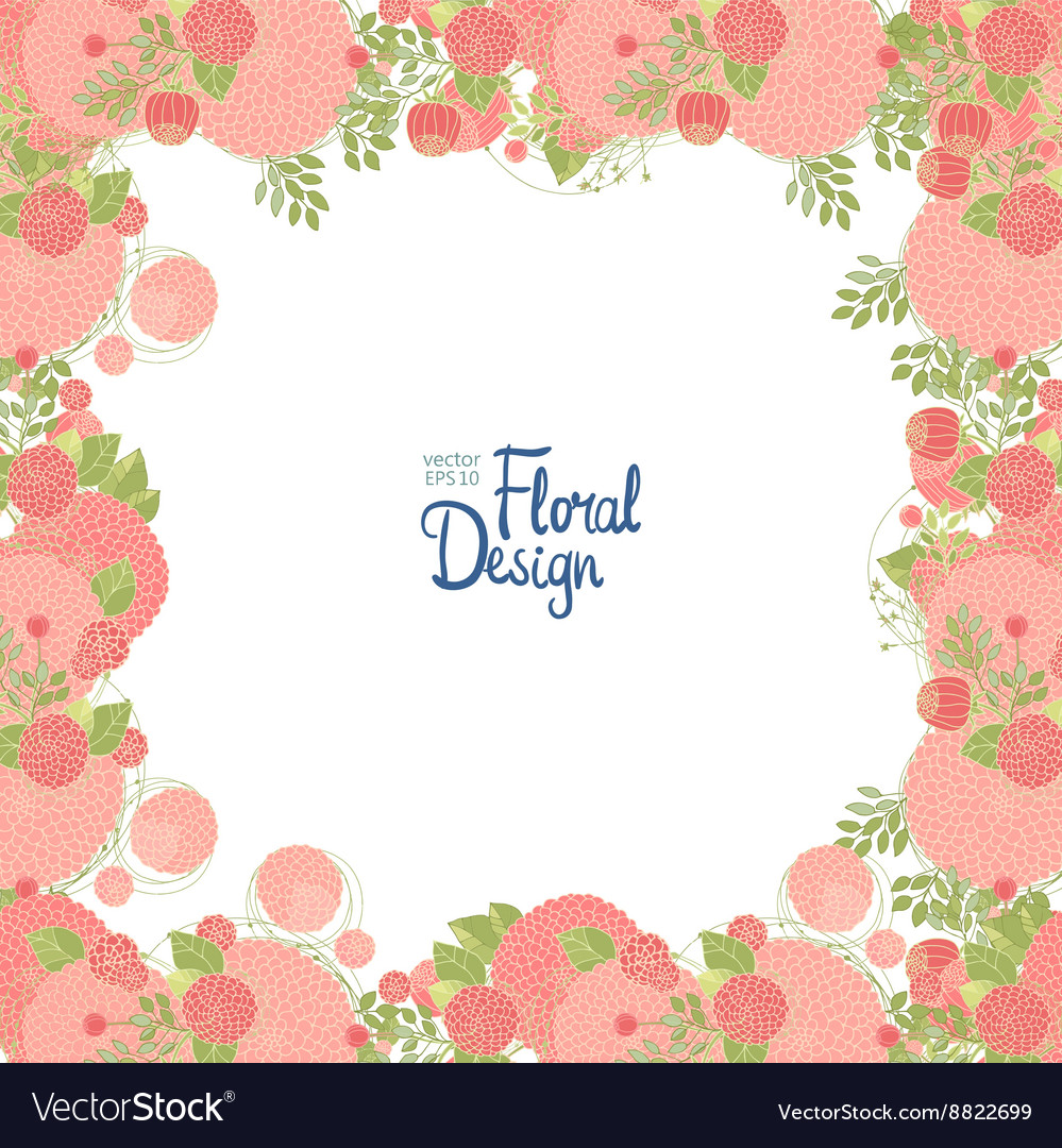 Floral frame and place for text